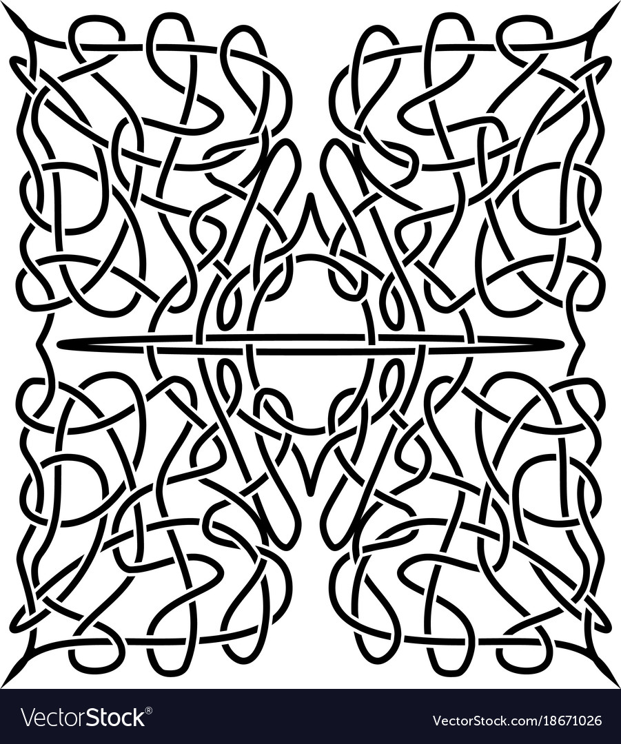 Traditional celtic ornament