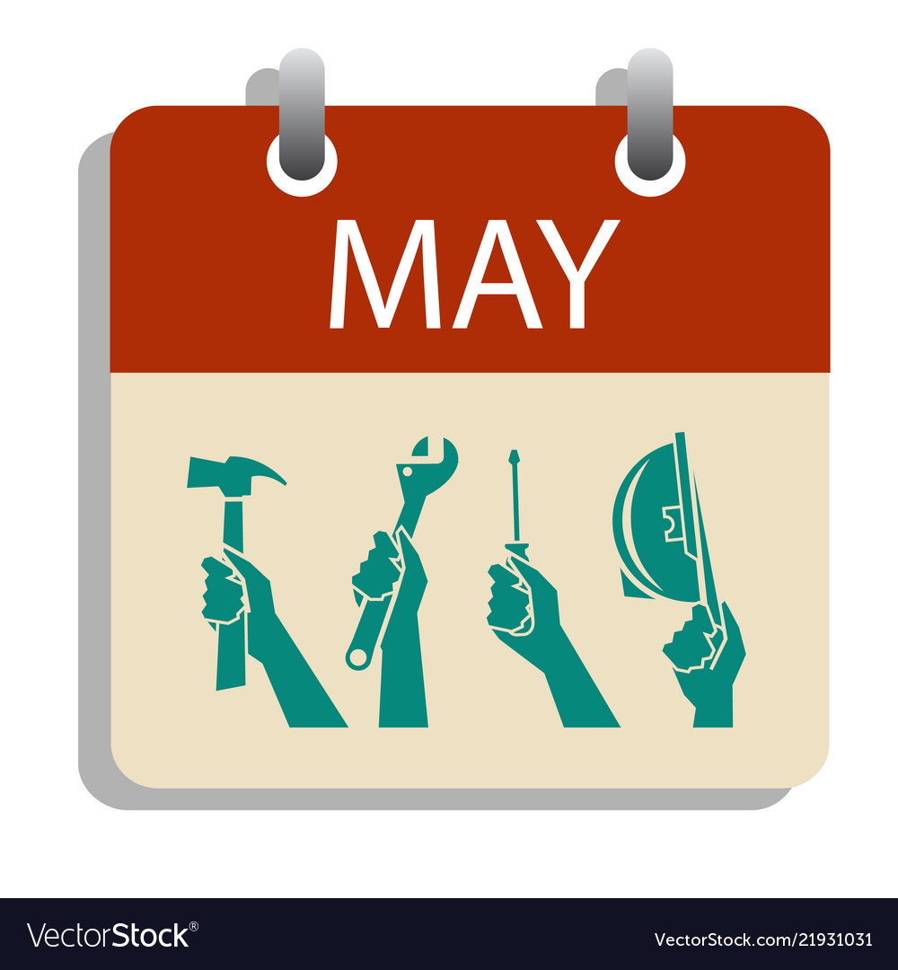 1 may day calendar labor day concept