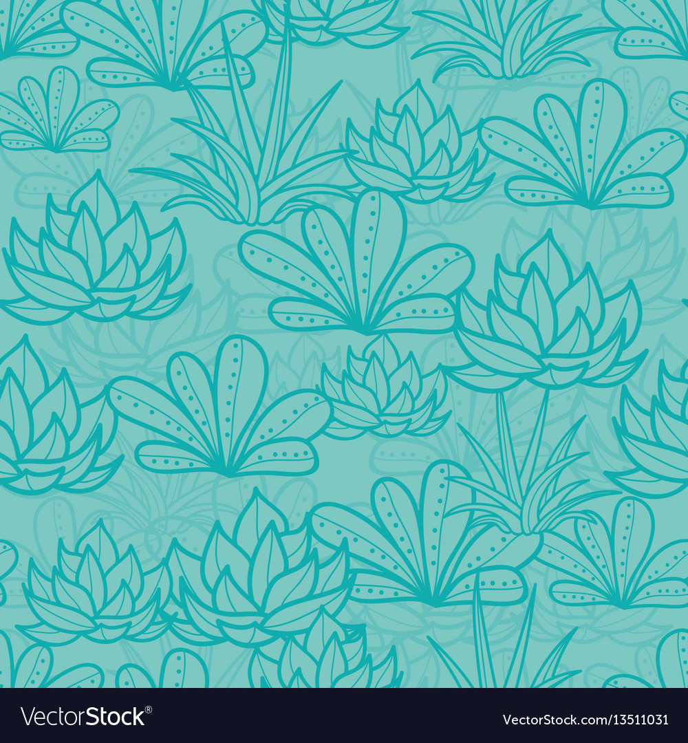 Blue seamless repeat pattern with growing