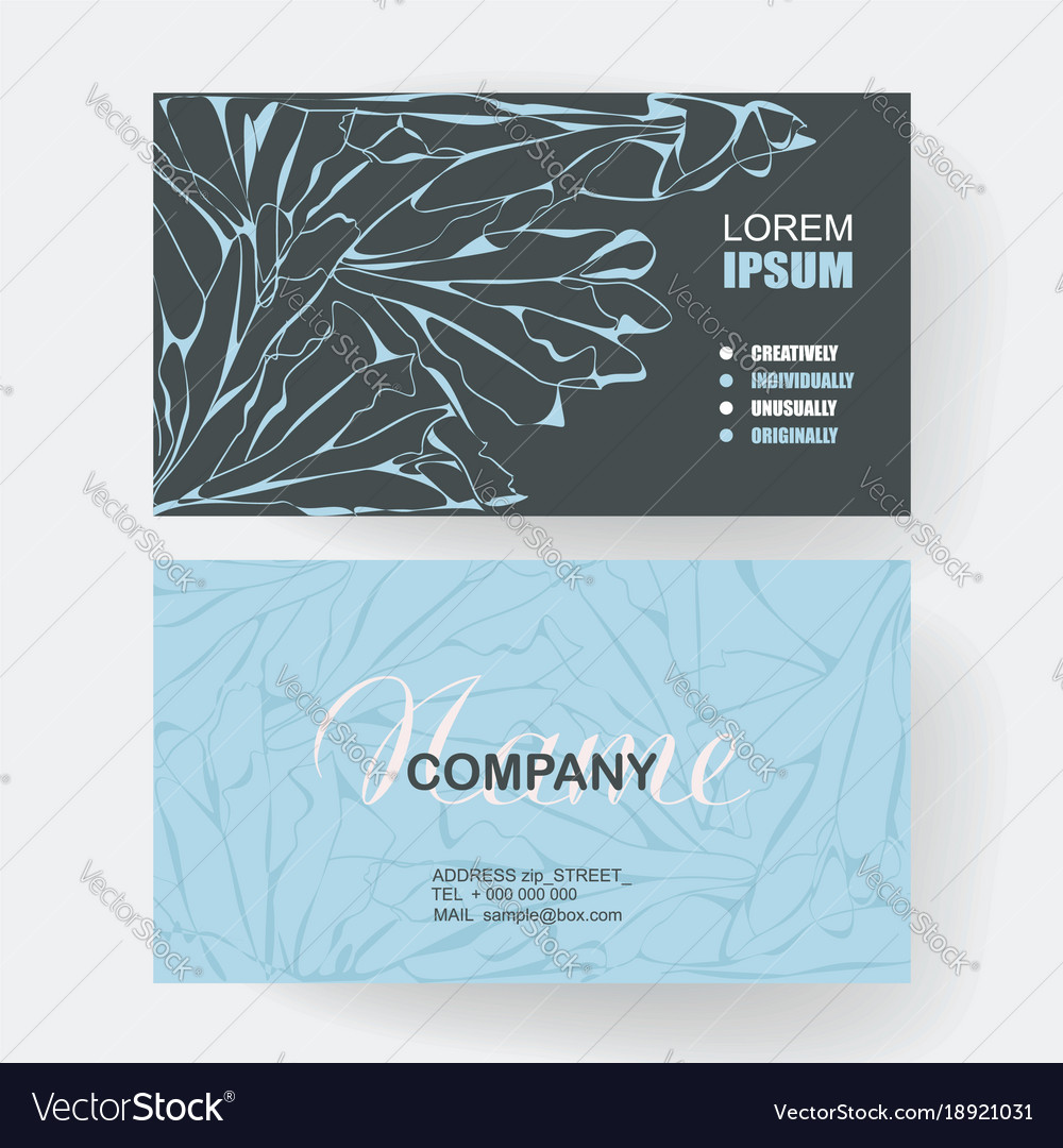 Business cards with web pattern design
