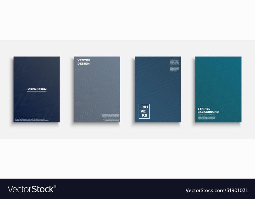 Creative colorful minimalistic covers templates