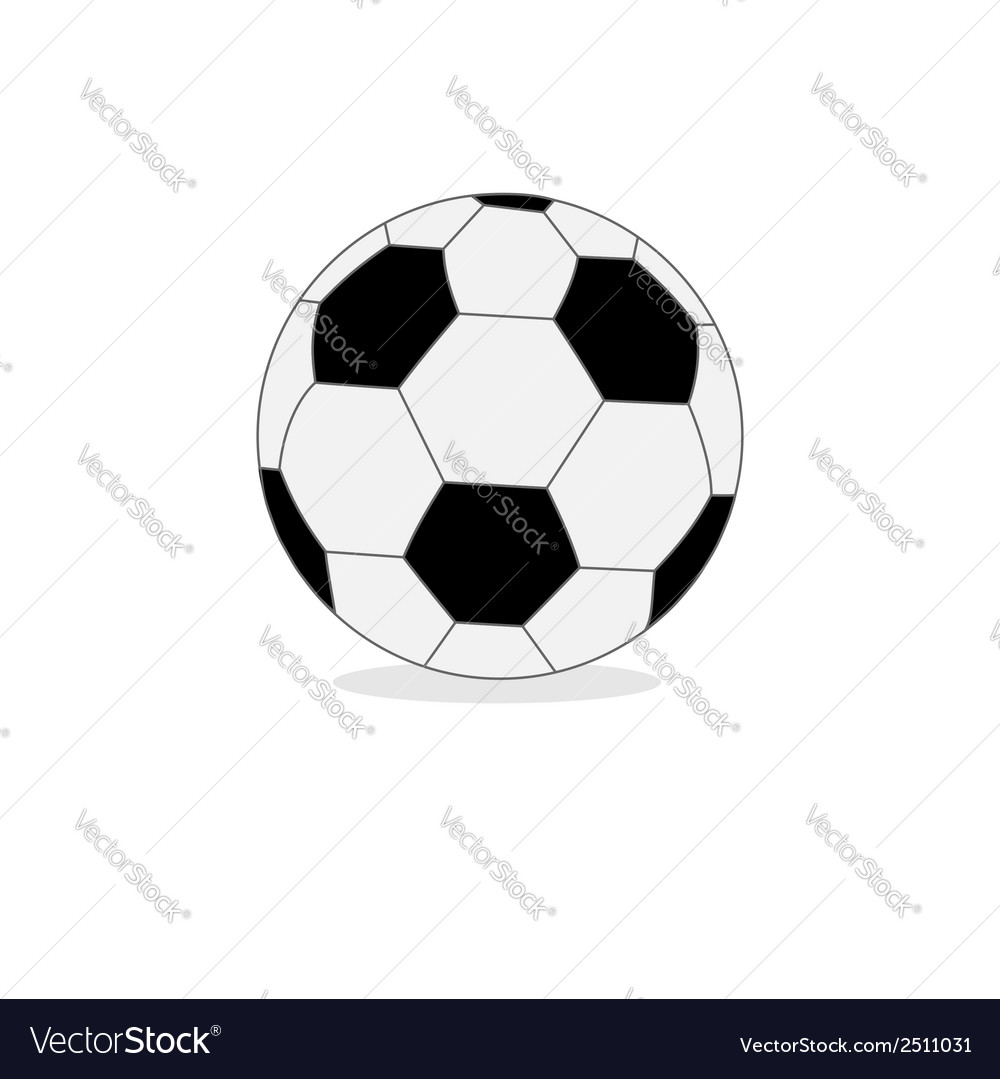 Football soccer ball isolated on white Flat design vector image