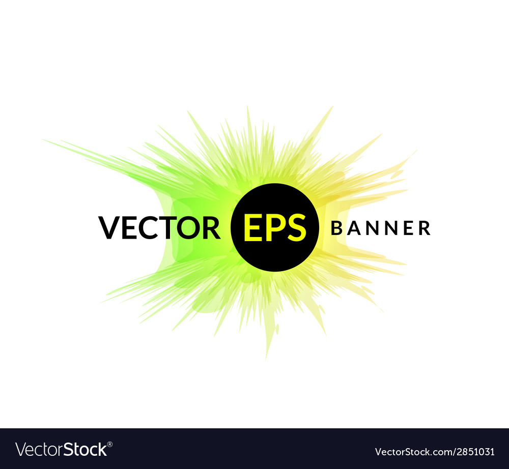 Ink explosion banner design template digital Vector Image