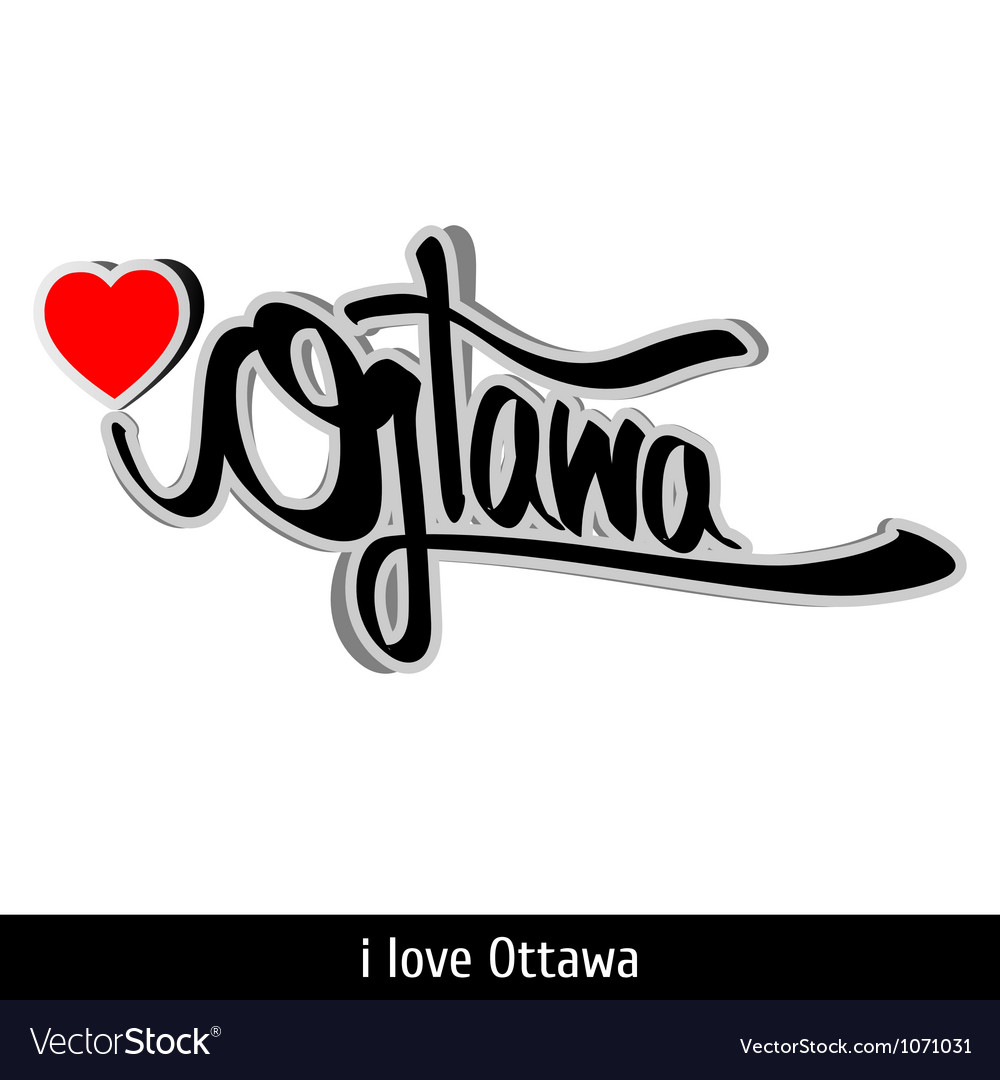 Ottawa greetings hand lettering Calligraphy