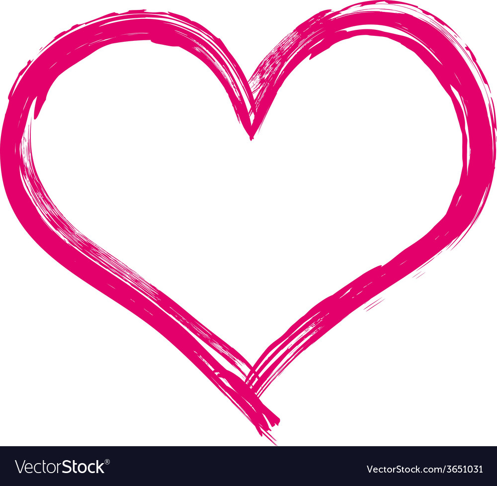 painted heart royalty free vector image vectorstock rh vectorstock com heart vector download heart vector art