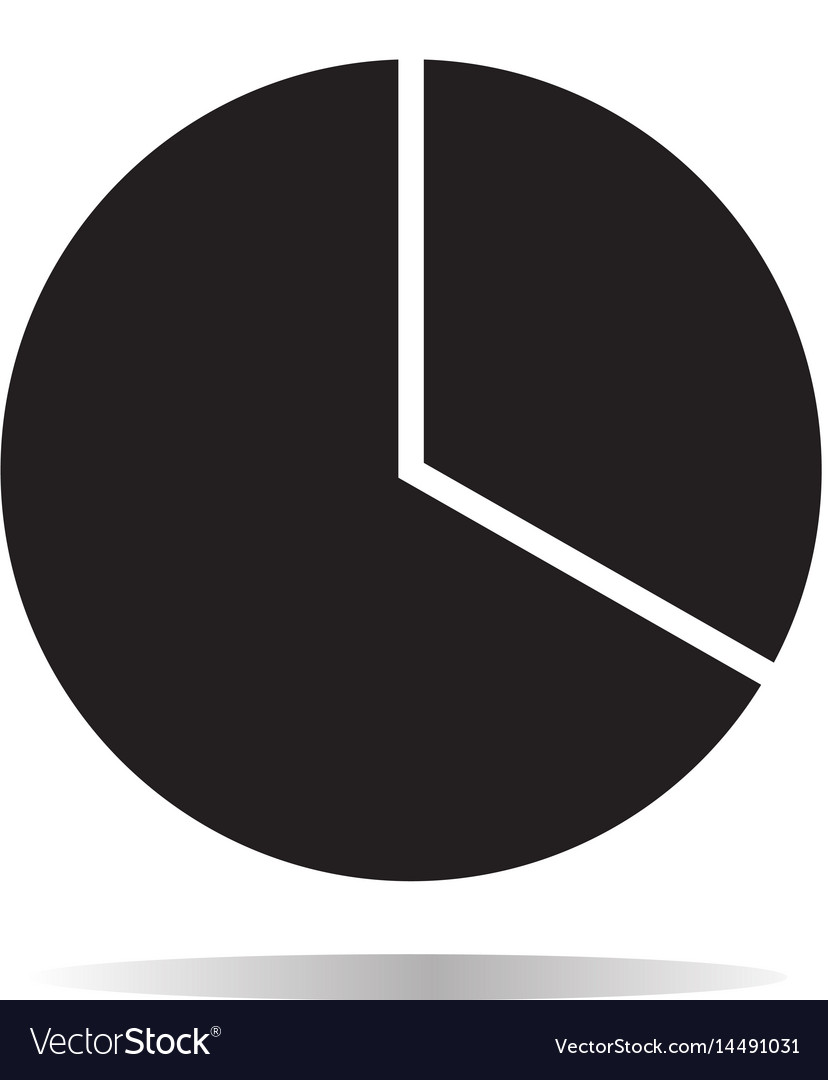 Pie chart icon on white background pie chart sign