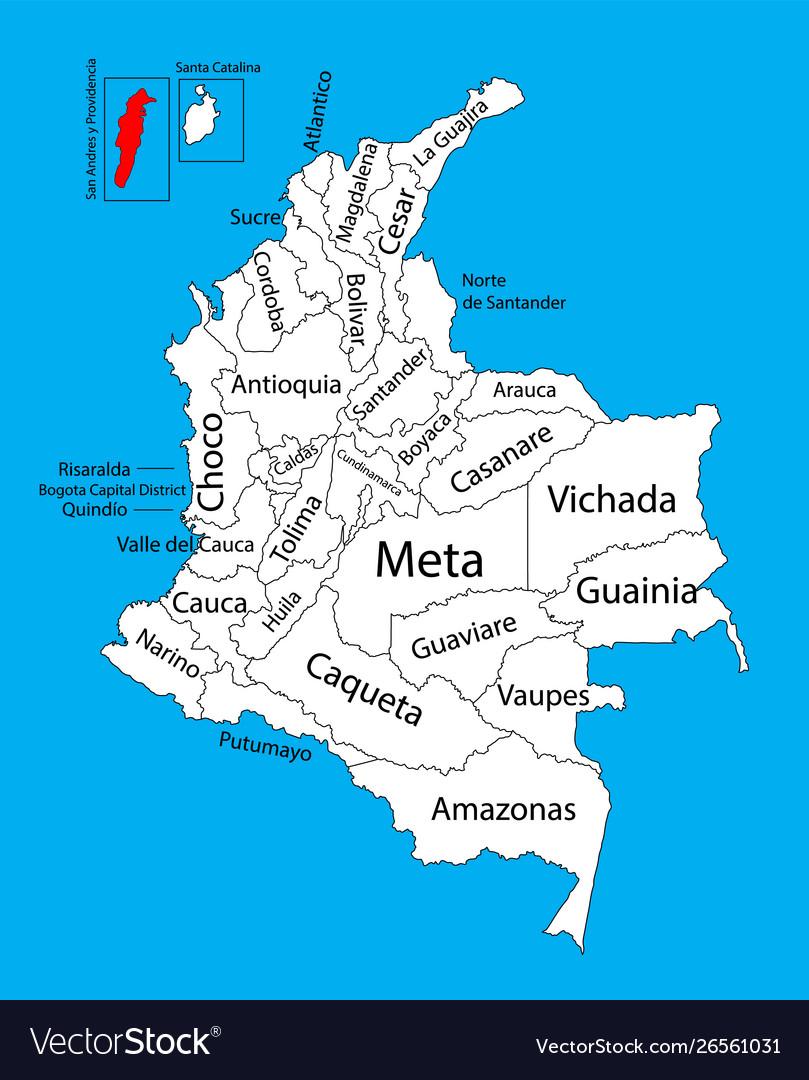 Region Map Archipelago San Andres Colombia Vector Image
