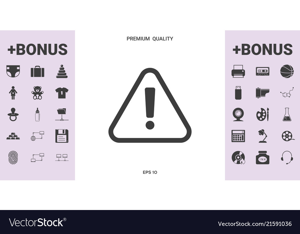 Attention icon symbol - graphic elements for your