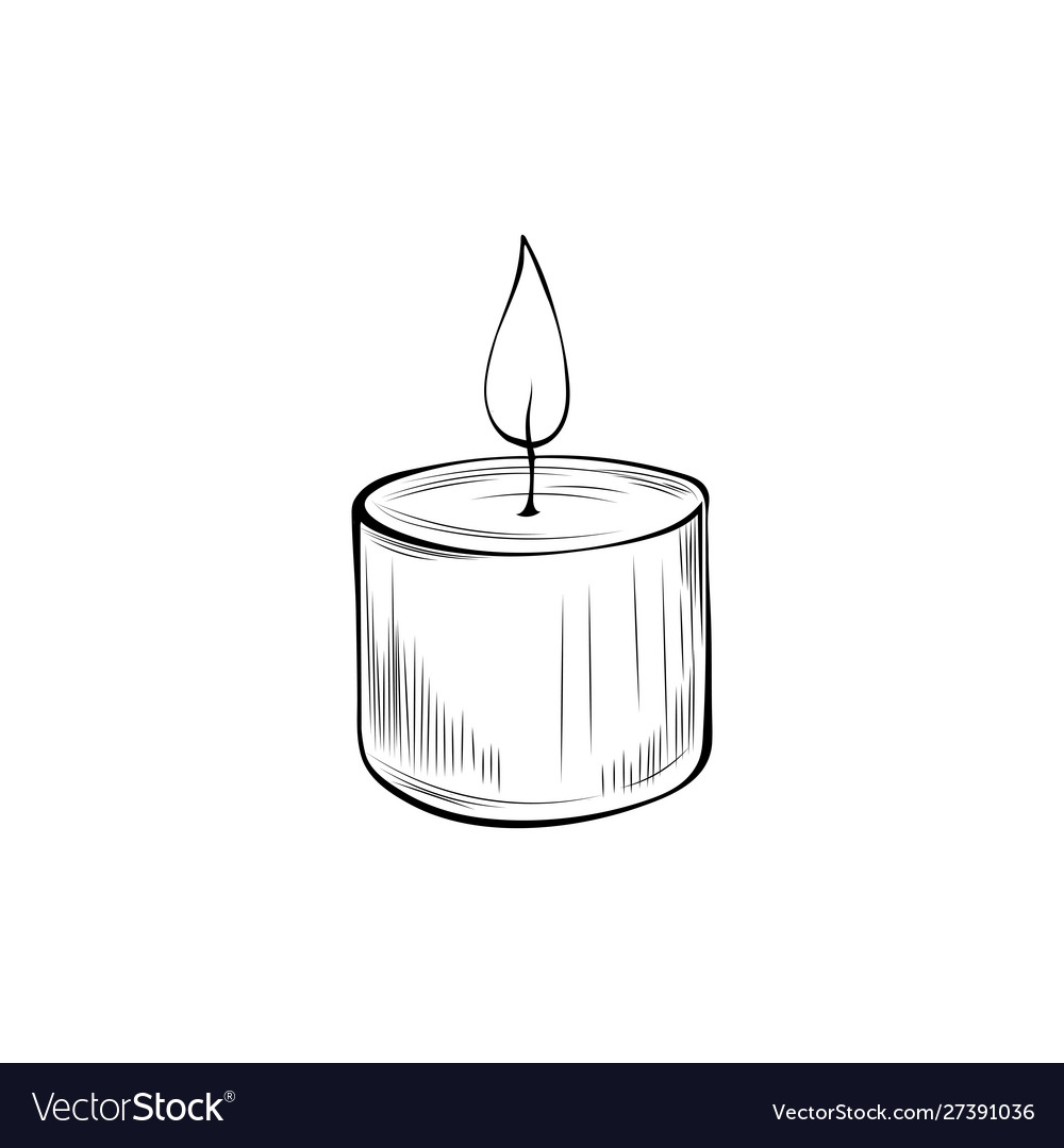 Burning candle coloring book