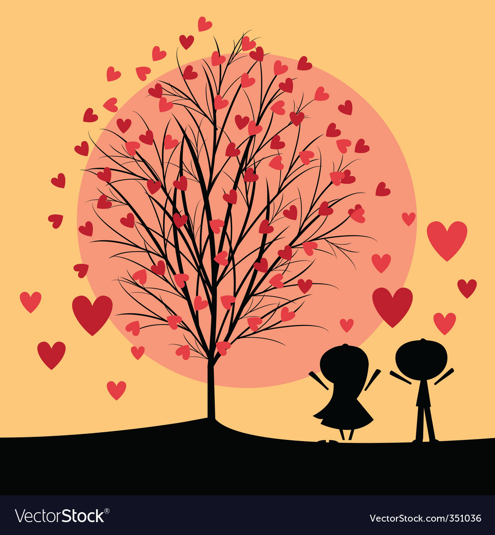 Couple under love tree