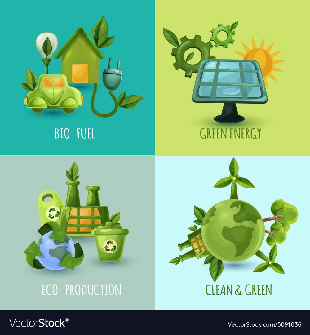Ecology Design Concept Set vector image