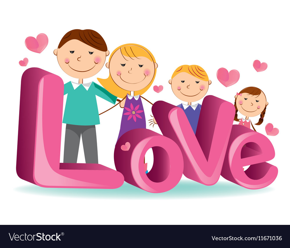 Family love 4 vector image