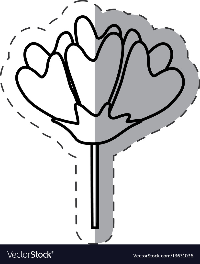 Flower decoration image monochrome