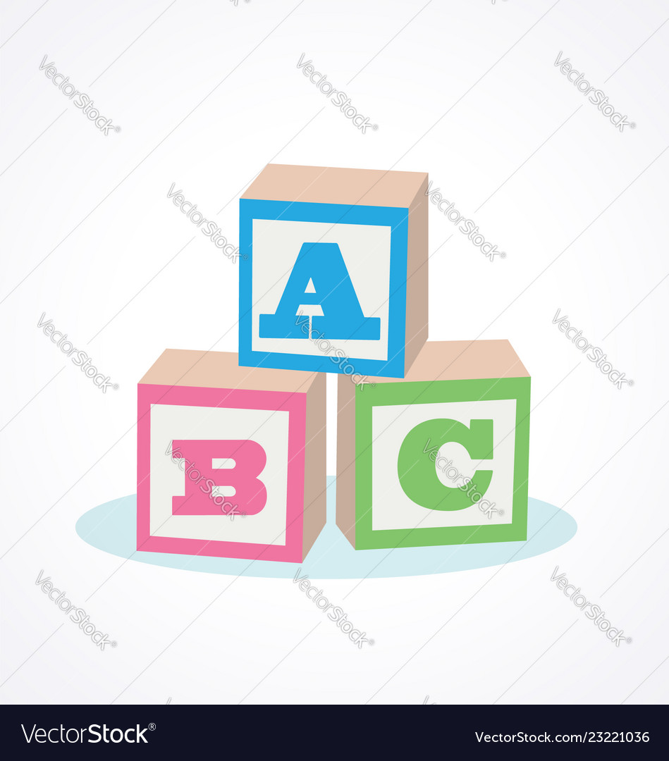 Kids abc letter blocks Royalty Free Vector Image