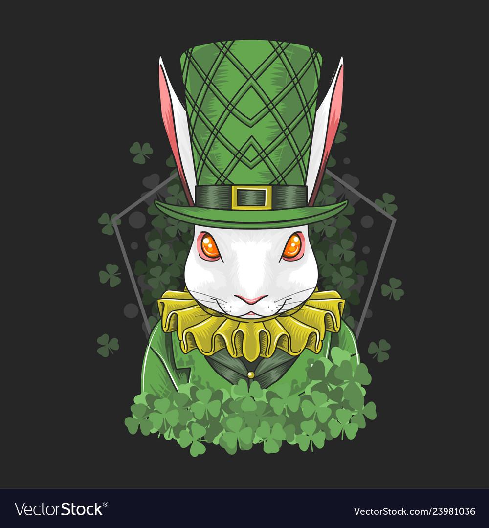 Rabbit easter st patricks day