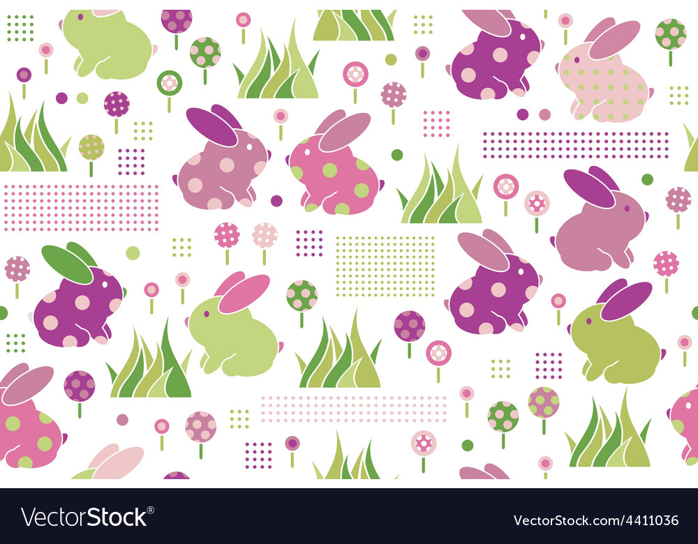 Rabbits flora pattern