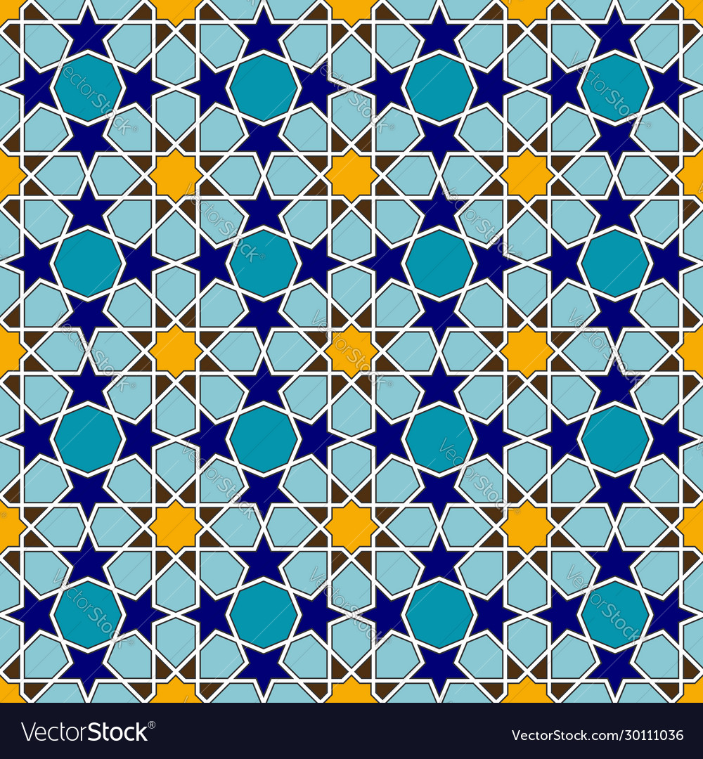 Traditional colorful arabic seamless pattern