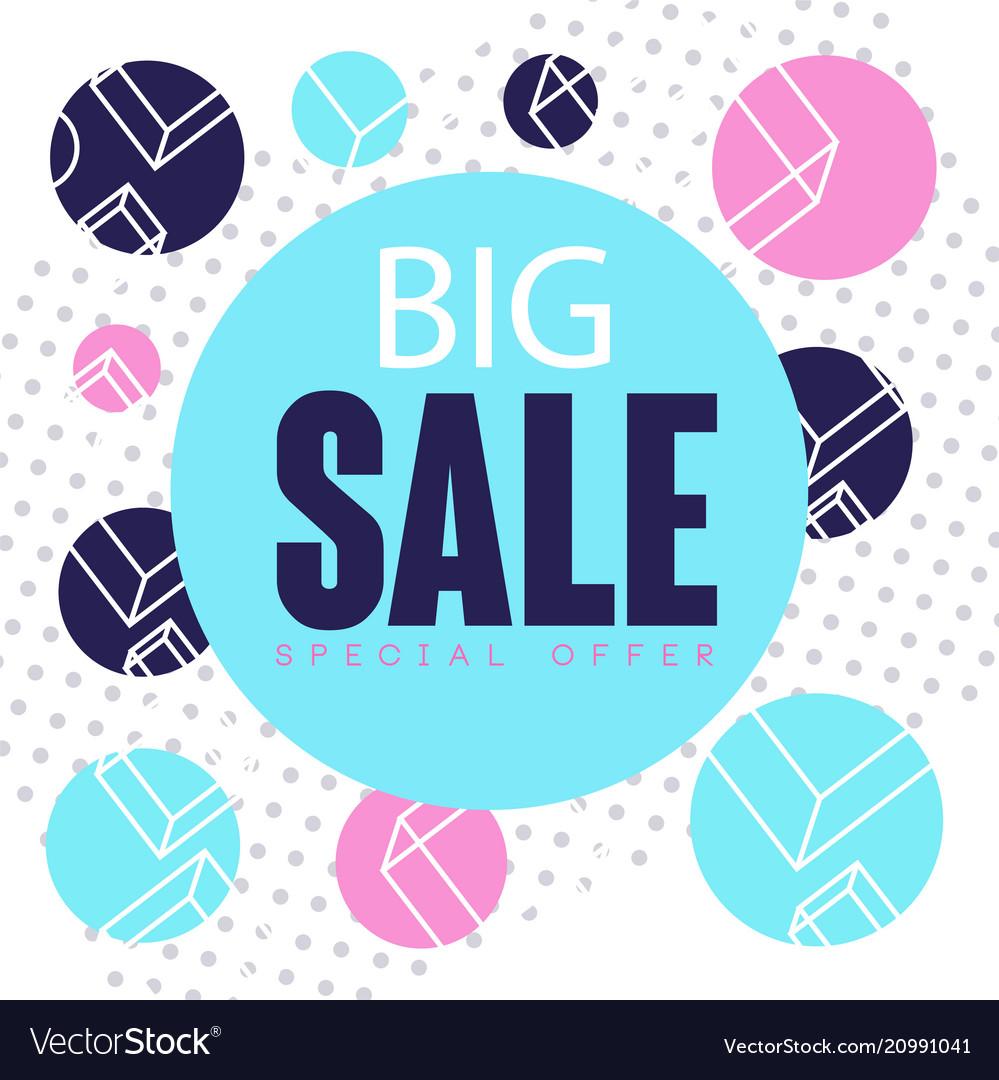 Big sale special offer banner template design