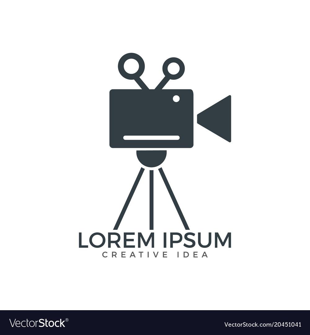 Film or movie camera logo design royalty free vector image for Camera film logo