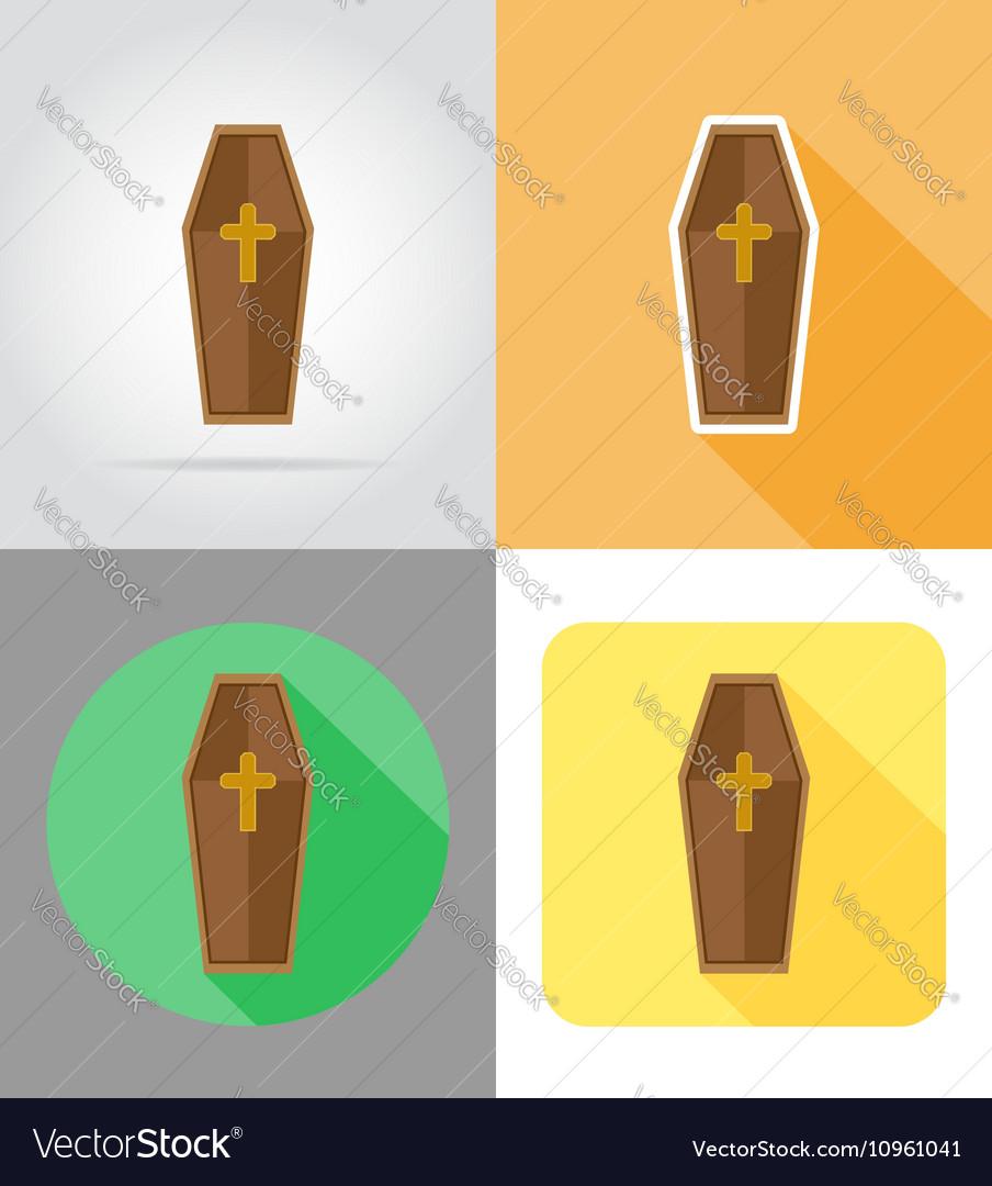Halloween flat icons 09 vector image