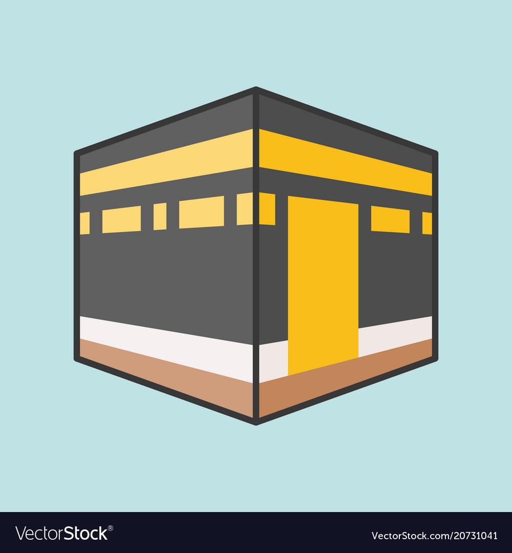 kaaba mecca or kabah royalty free vector image vectorstock