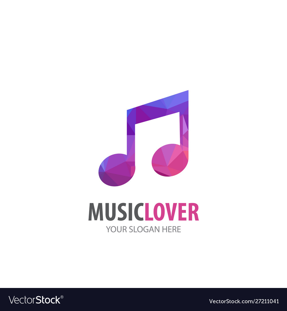 Music logo for business company simple music