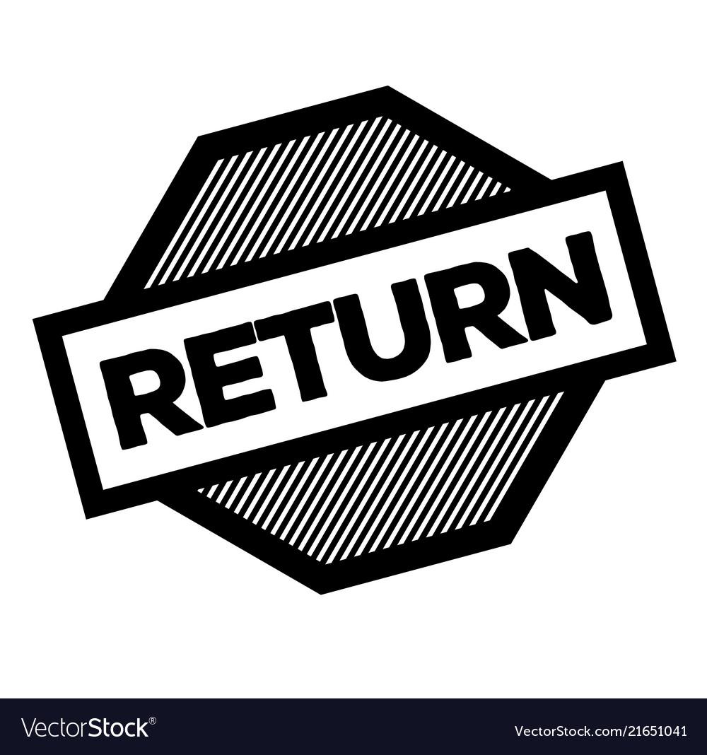 Return black stamp vector image on VectorStock