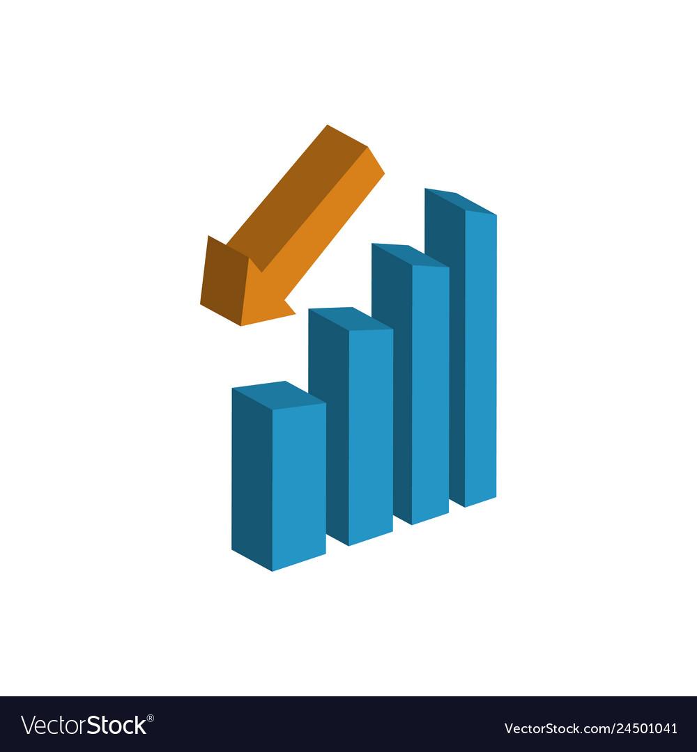 Statistic bar icon graphic design template