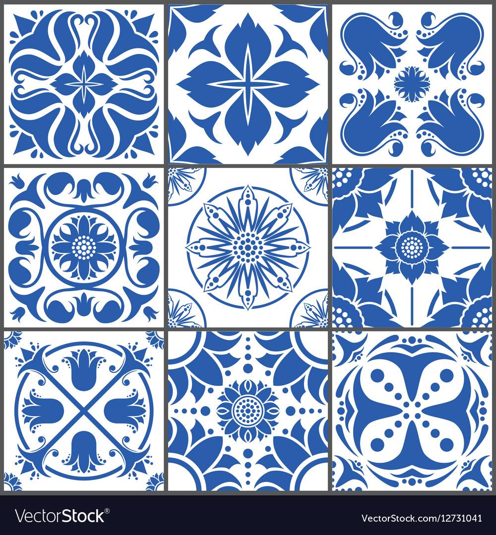 Vintage ceramic tiles Floor Royalty Free Vector Image