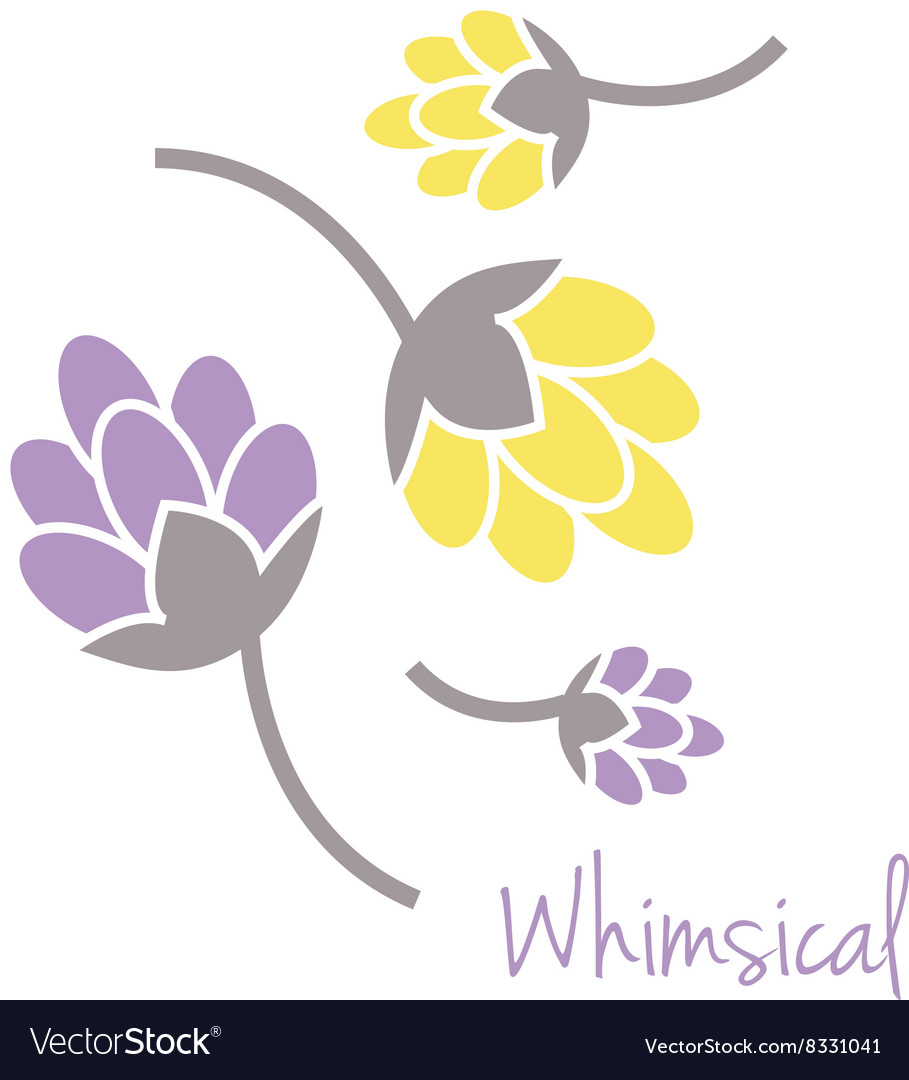 Whimsical Flowers vector image