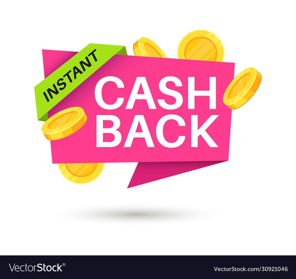 Cashback sticker symbol cash back and