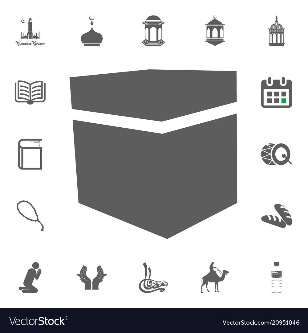Mecca kaaba stone icon ramadan kareem eid