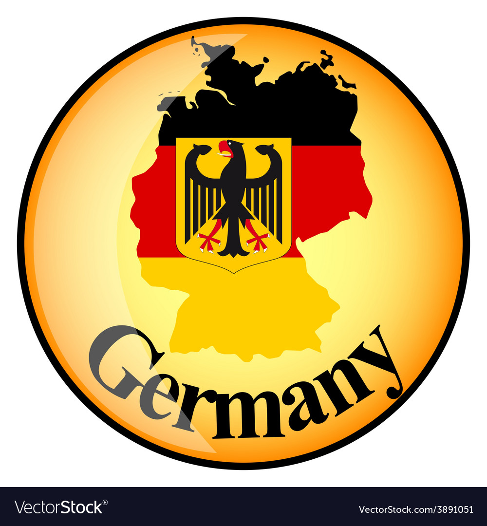 Button Germany vector image