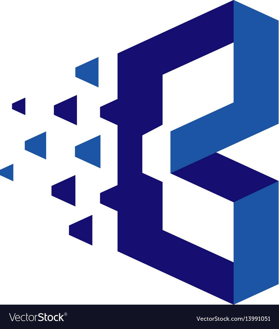 Creative letter b b technology logo