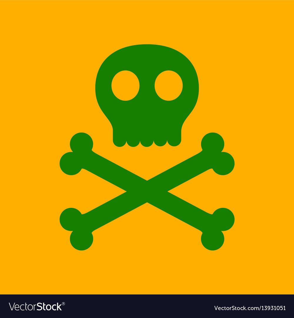 Flat icon stylish background halloween skull bones
