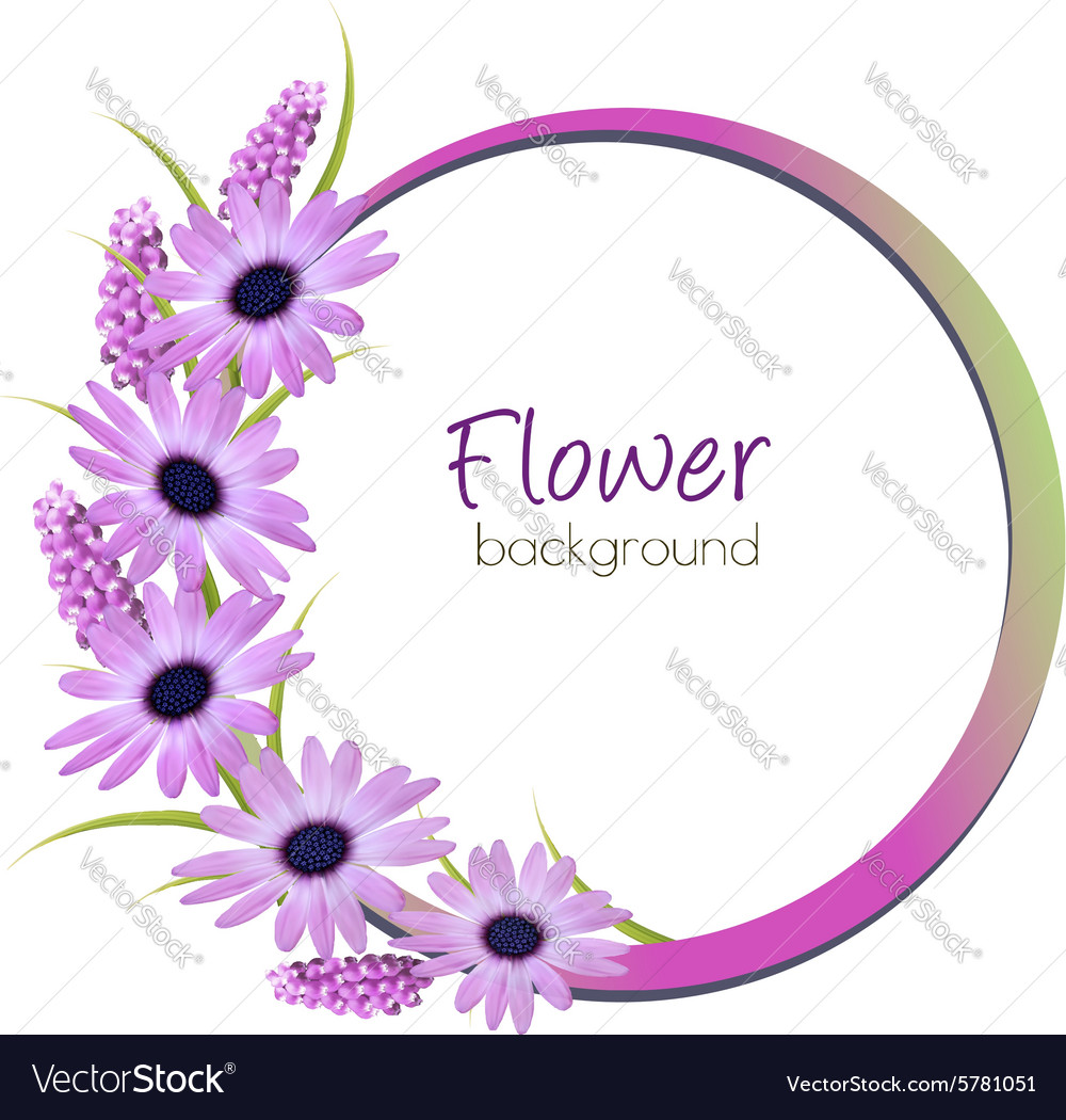 Flower background with beautiful purple flowers vector image izmirmasajfo