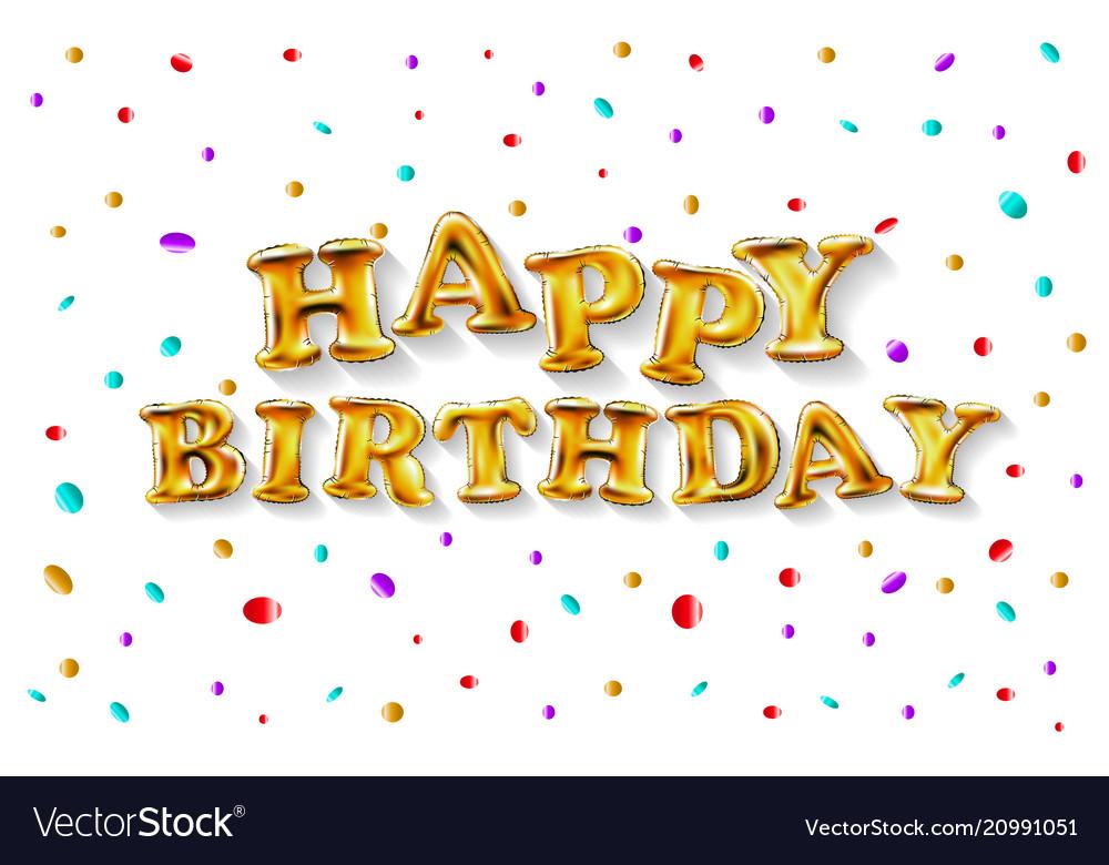 Happy birthday typography design for greeting