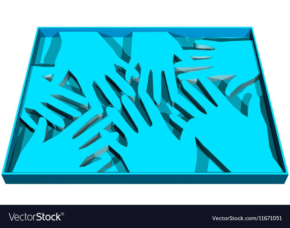 Human abstract hands