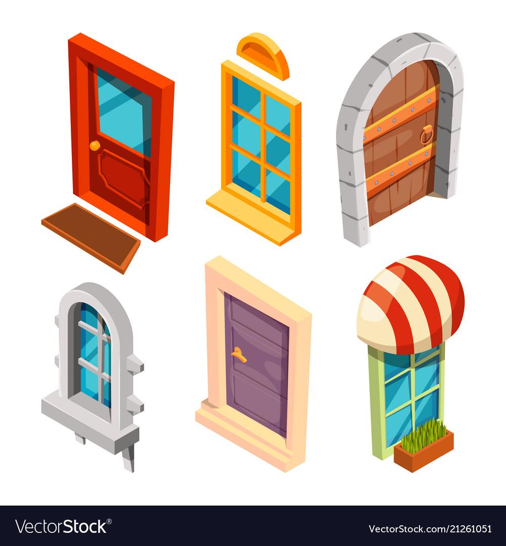 Isometric doors and windows