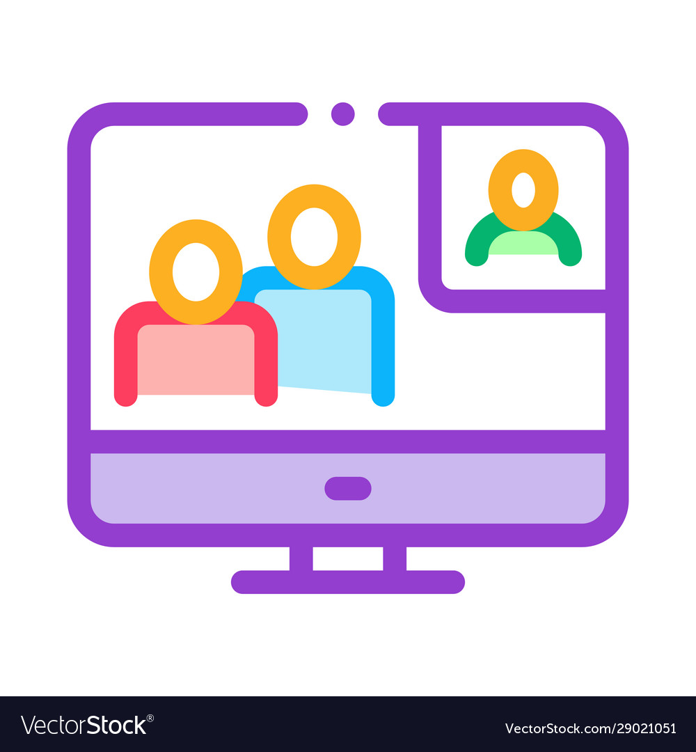 Online connection icon outline