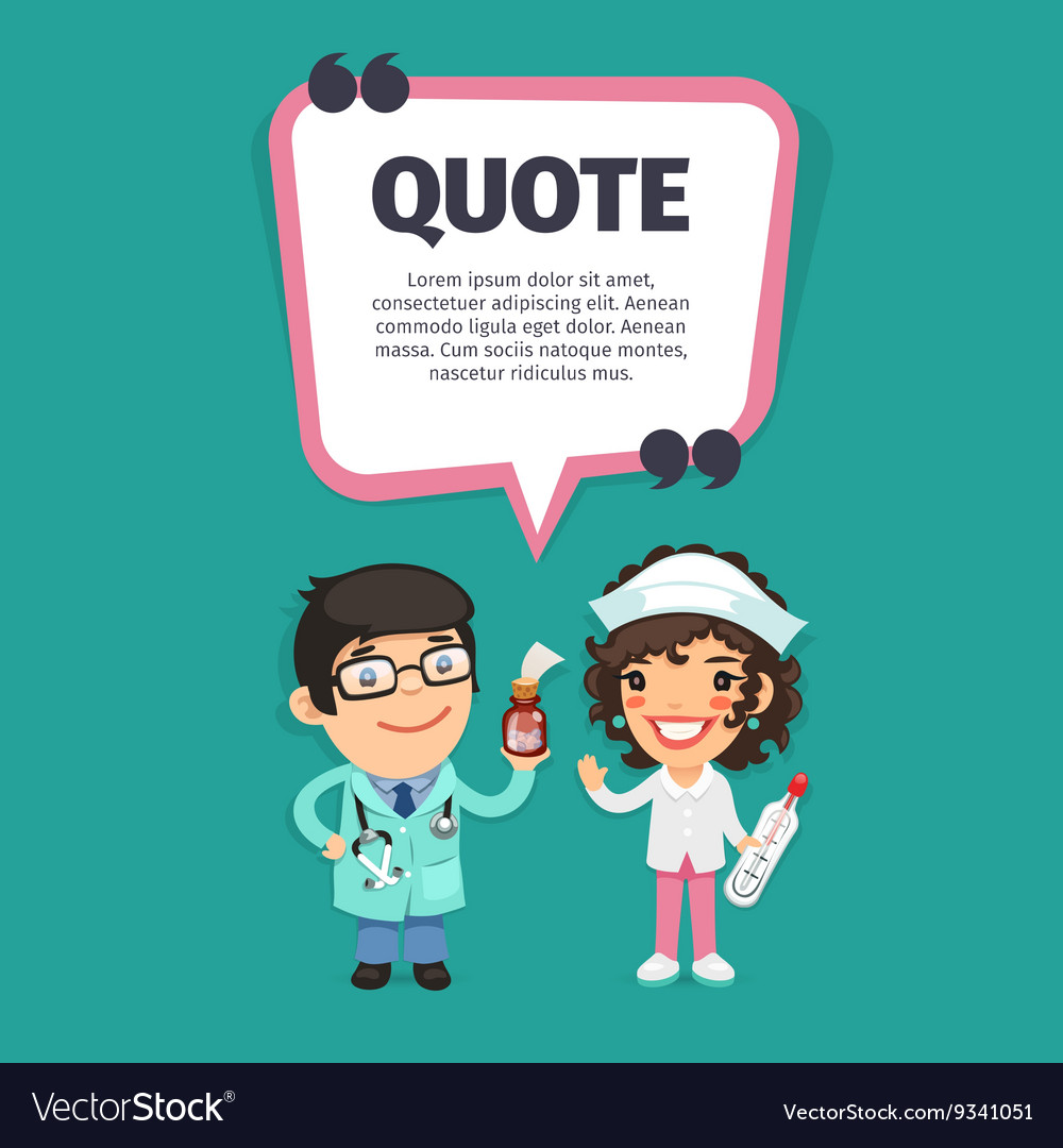 Quote with Doctors vector image