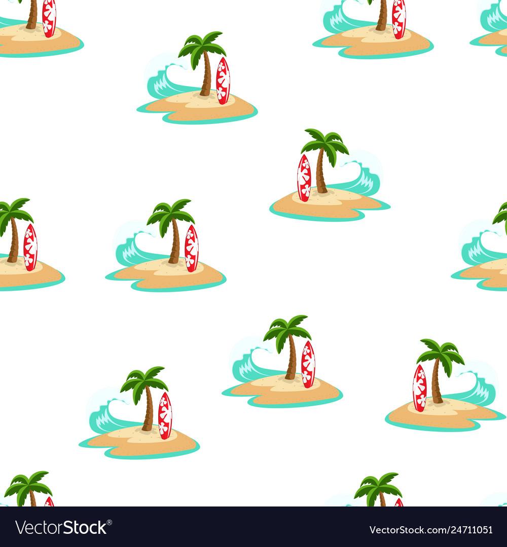 Sea summer seamless pattern palm