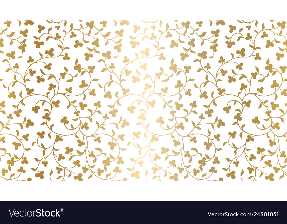 Seamless golden texture floral pattern