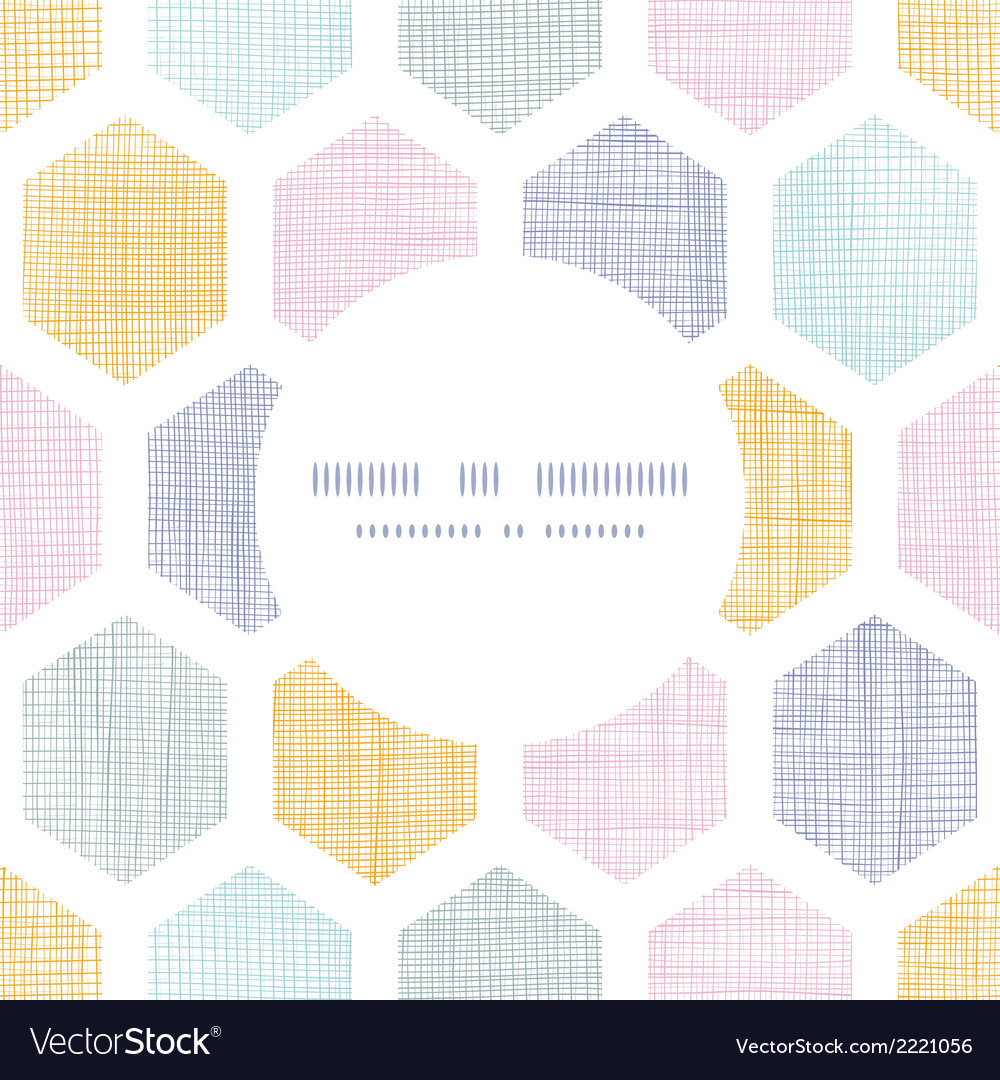 Abstract colorful honeycomb fabric textured frame