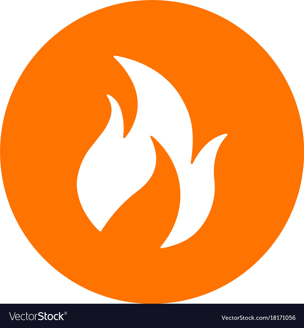 Abstract Fire Symbol On A Circle Royalty Free Vector Image