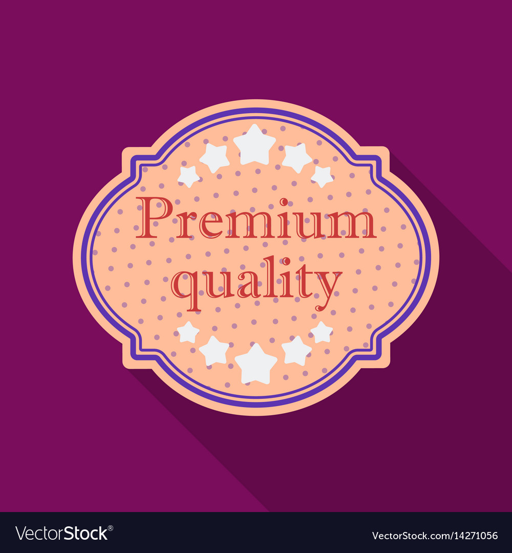 Premium quality icon in flat style isolated on