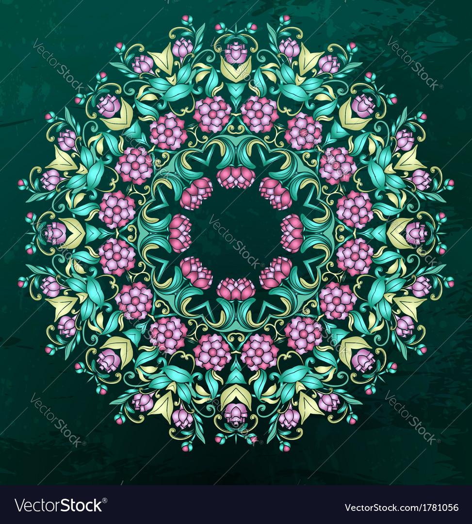 Round Indian pattern mandala