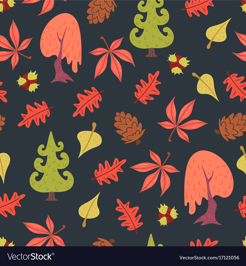 Simple flat forest pattern