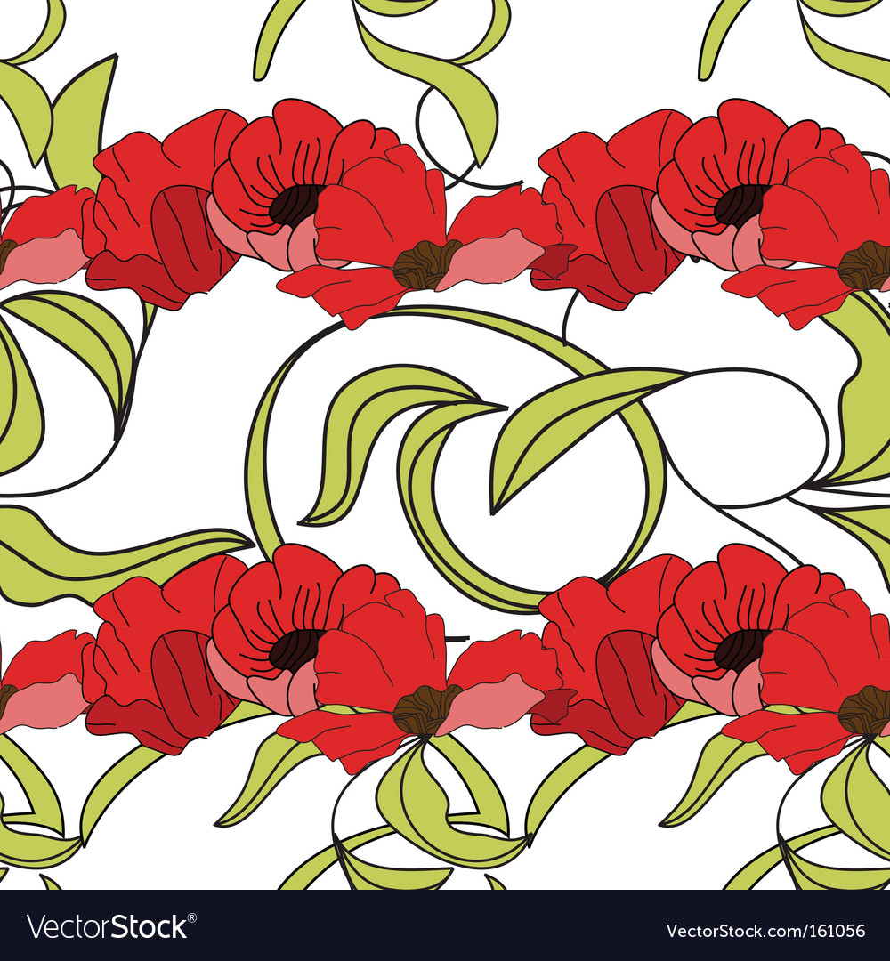 Summer Floral Seamless Wallpaper Royalty Free Vector Image