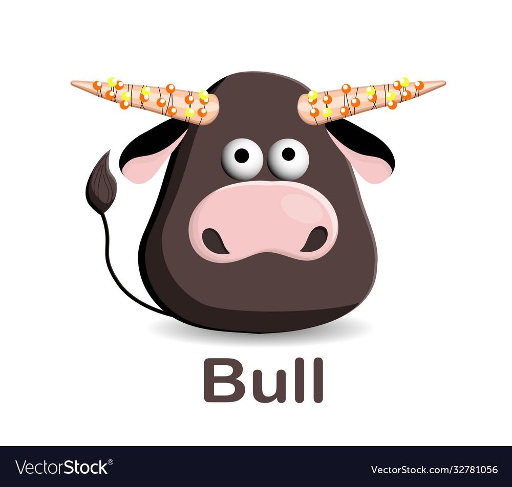 Year bull 2021 new year greeting card